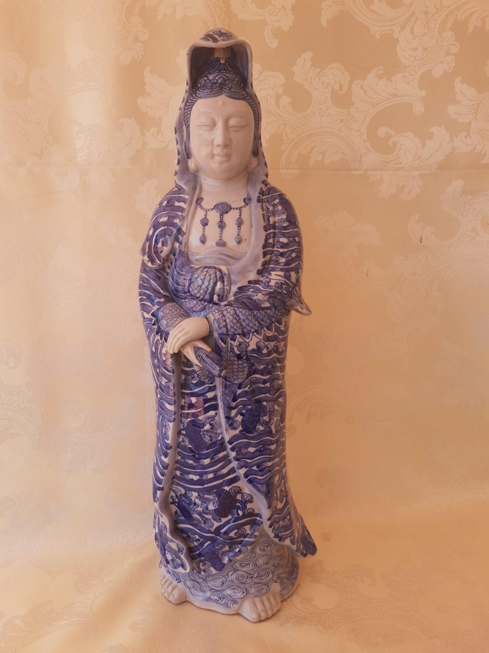 Japanese porcelain statue Guan Yin
