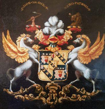 Noble Crest of Sir John James Scott Douglas, Baronet of Springwood Park. 1823