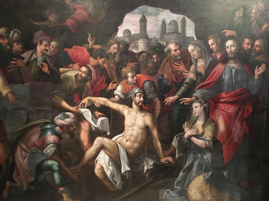The Resurection of Lazarus Painting Antwerp School, Circa 1600