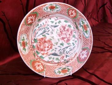 No 85 – Zhangzhou Polychrome Porcelain Plate with Phoenix Birds, 17th Century