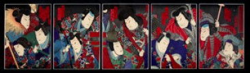No 08 – Japanese Woodblock Prints, Series of 5, Yoshitaki (1841-1899)