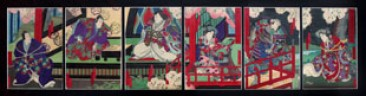 No 09 – Japanese Woodblock Prints, Series of 6, Actors, Yoshitaki Period