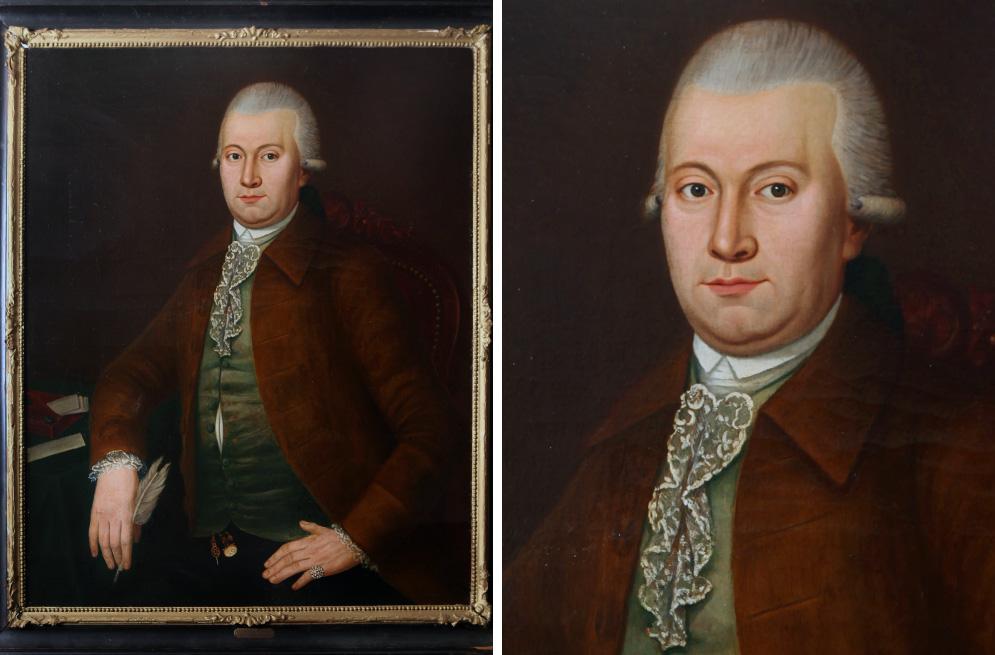 Circa 1785 Dutch school oil on canvas portrait Lambertus Sijthoff