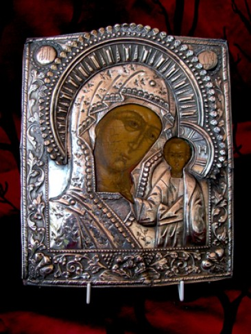 No 19 – 18th Century Russian Mother of God of Kazan icon