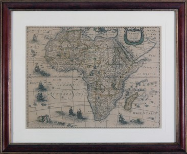 No 13 – Antique Map of Africa Edited by Abraham Hondius Amsterdam, 1631